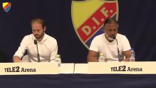 Presskonferensen efter DIF-Häcken