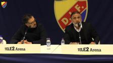 Presskonferensen efter derbyt mot AIK