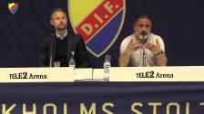 Presskonferensen efter segern mot MFF