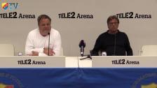Presskonferensen efter DIF-Åtvidaberg