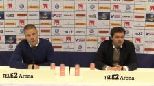 Presskonferensen efter krysset mot Norrköping